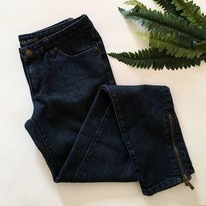 Michael Kors Modern Ankle Zipper Jeans